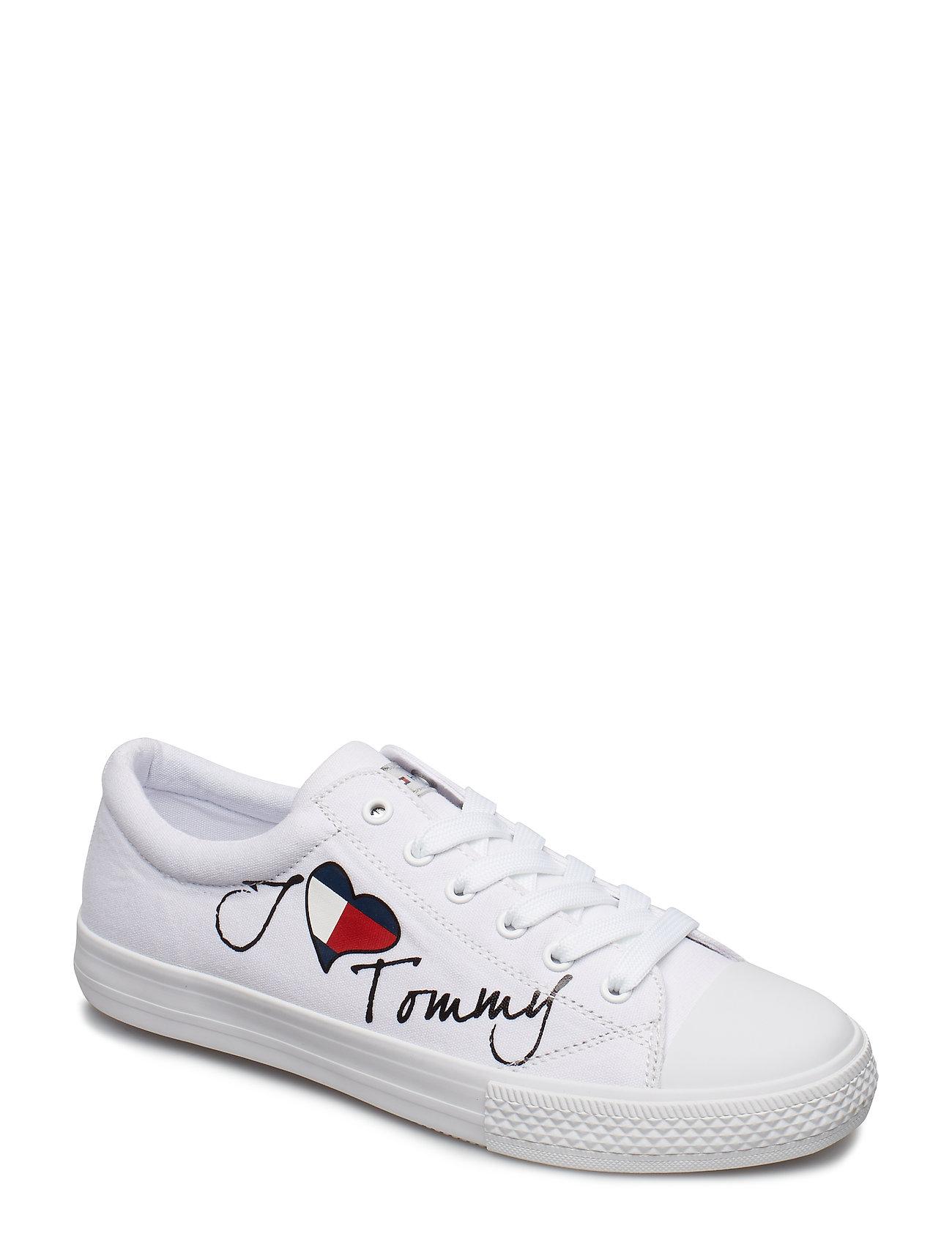 76291088 Tommy Hilfiger sneakers – Low Cut Lace-Up Sneaker til børn i BIANCO ...