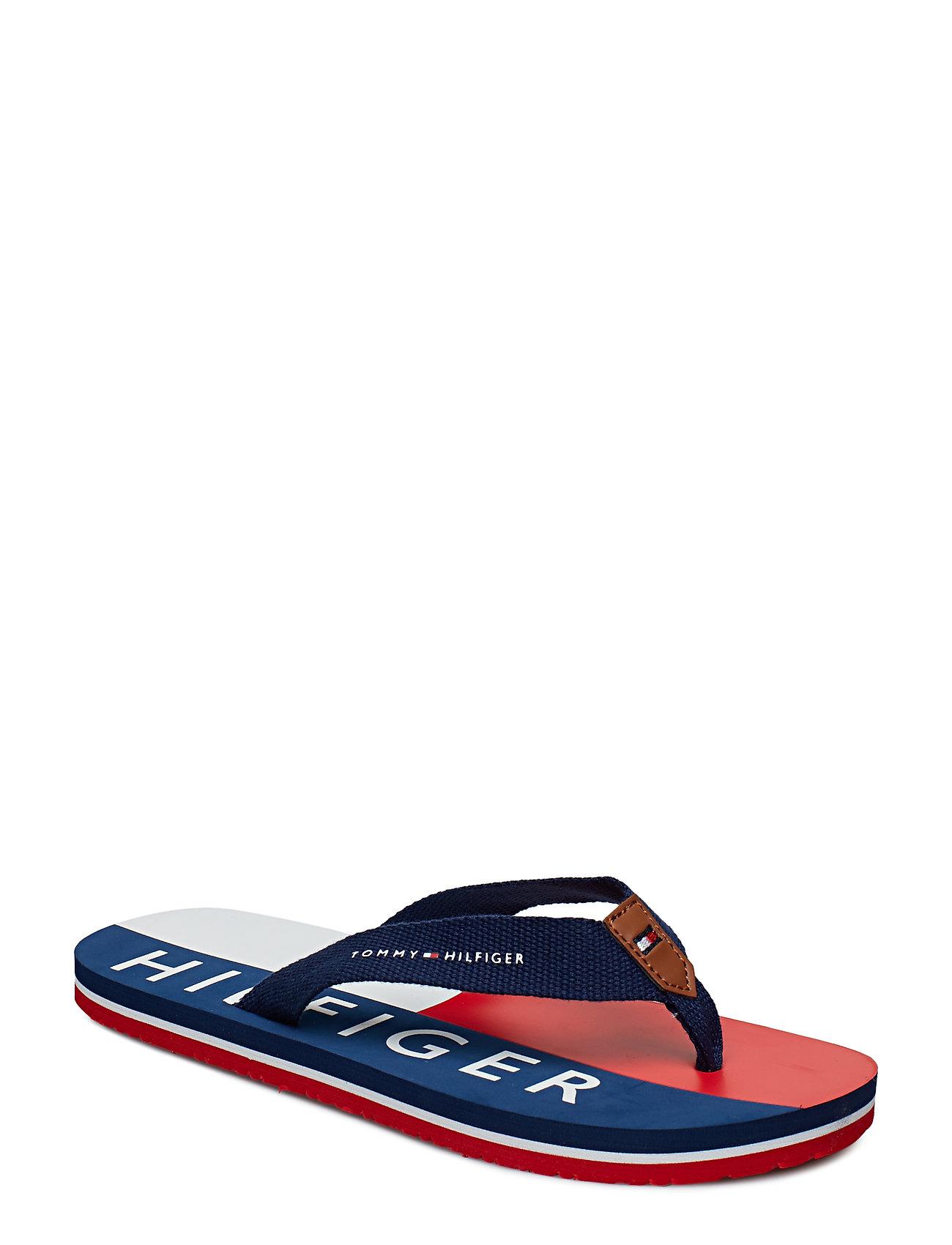 8372c19dd9d BLU/ROSSO/BIANCO Tommy Hilfiger Flag Print Flip Flop sandaler for ...