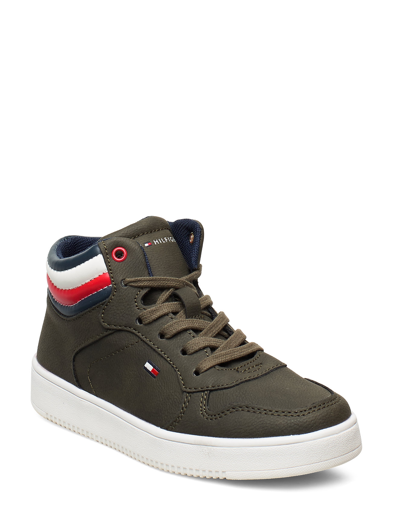 Tommy Hilfiger HIGH TOP LACE-UP - can 402 - VERDE MILITARE