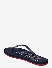 Tommy Hilfiger - RUBBER THONG BEACH SANDAL - teenslippers - twilight navy - 2
