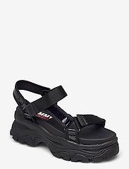 Tommy Hilfiger - IRIDESCENT HYBRID SANDAL - flat sandals - black - 0
