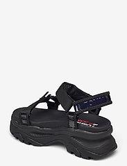 Tommy Hilfiger - IRIDESCENT HYBRID SANDAL - flat sandals - black - 2