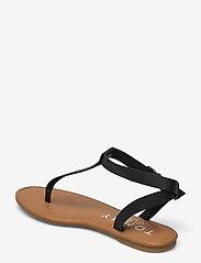 Tommy Hilfiger - ESSENTIAL TOE POST FLAT SANDAL - flat sandals - black - 2