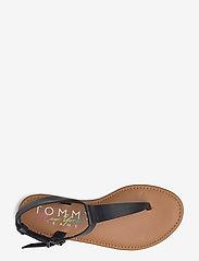Tommy Hilfiger - ESSENTIAL TOE POST FLAT SANDAL - flat sandals - black - 3