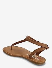 Tommy Hilfiger - ESSENTIAL TOE POST FLAT SANDAL - flat sandals - summer cognac - 1