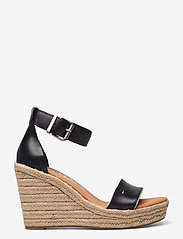 Tommy Hilfiger - ESSENTIAL TOMMY JEANS WEDGE - heeled espadrilles - black - 1