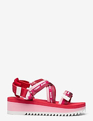 Tommy Hilfiger - LUREX WEBBING STRAPPY SANDAL - flat sandals - bubble pink - 1