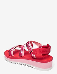 Tommy Hilfiger - LUREX WEBBING STRAPPY SANDAL - flat sandals - bubble pink - 2