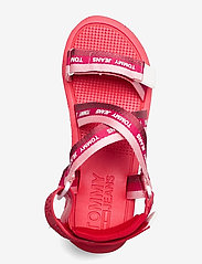 Tommy Hilfiger - LUREX WEBBING STRAPPY SANDAL - flat sandals - bubble pink - 3