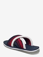 Tommy Hilfiger - CROSS STRAP MULE SANDAL - flat sandals - twilight navy - 2