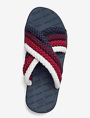Tommy Hilfiger - CROSS STRAP MULE SANDAL - flat sandals - twilight navy - 3