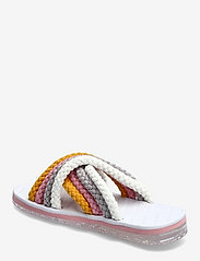 Tommy Hilfiger - CROSS STRAP MULE SANDAL - flat sandals - white - 2