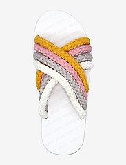 Tommy Hilfiger - CROSS STRAP MULE SANDAL - flat sandals - white - 3