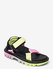 Tommy Hilfiger - COLOR POP TOMMY JEANS SANDAL - flat sandals - black - 0