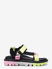 Tommy Hilfiger - COLOR POP TOMMY JEANS SANDAL - flat sandals - black - 1