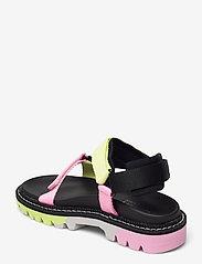 Tommy Hilfiger - COLOR POP TOMMY JEANS SANDAL - flat sandals - black - 2