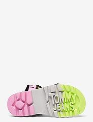 Tommy Hilfiger - COLOR POP TOMMY JEANS SANDAL - flat sandals - black - 4