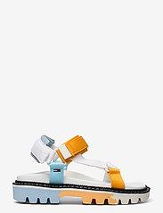 Tommy Hilfiger - COLOR POP TOMMY JEANS SANDAL - flat sandals - white - 1