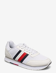 Tommy Hilfiger - CORPORATE MATERIAL MIX RUNNER - low top sneakers - white - 0