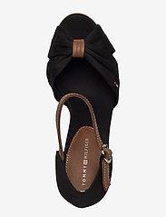 Tommy Hilfiger - ICONIC ELENA SANDAL - heeled espadrilles - black - 3