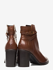 Tommy Hilfiger - TH HARDWARE LEATHER HIGH BOOT - ankelstøvletter med hæl - coffee - 4