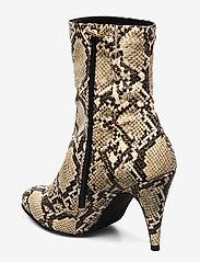 Tommy Hilfiger - SNAKE PRINT BOOTIE - ankelstøvletter med hæl - warm sand - 2