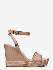 Tommy Hilfiger - SPORTY TEXTILE HIGH WEDGE - espadrilles met sleehak - sandbank - 1