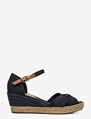 Tommy Hilfiger - BASIC OPEN TOE MID WEDGE - heeled espadrilles - desert sky - 1