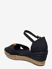Tommy Hilfiger - BASIC OPEN TOE MID WEDGE - heeled espadrilles - desert sky - 2