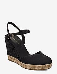 Tommy Hilfiger - BASIC CLOSED TOE HIGH WEDGE - heeled espadrilles - black - 0