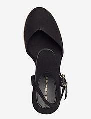 Tommy Hilfiger - BASIC CLOSED TOE HIGH WEDGE - heeled espadrilles - black - 3