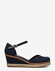 Tommy Hilfiger - BASIC CLOSED TOE MID WEDGE - wedges - desert sky - 1