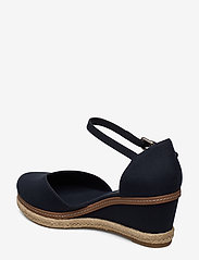 Tommy Hilfiger - BASIC CLOSED TOE MID WEDGE - wedges - desert sky - 2