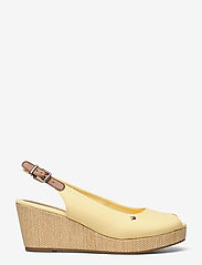 Tommy Hilfiger - ICONIC ELBA SLING BACK WEDGE - wedges - delicate yellow - 1