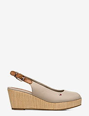 Tommy Hilfiger - ICONIC ELBA SLING BACK WEDGE - sleehakken - stone - 1