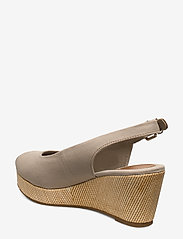 Tommy Hilfiger - ICONIC ELBA SLING BACK WEDGE - wedges - stone - 2