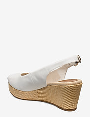 Tommy Hilfiger - ICONIC ELBA SLING BACK WEDGE - sleehakken - ivory - 2