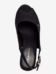 Tommy Hilfiger - ICONIC ELENA SLING BACK WEDGE - heeled espadrilles - black - 3