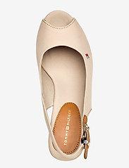 Tommy Hilfiger - ICONIC ELENA SLING BACK WEDGE - heeled espadrilles - stone - 3