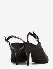Tommy Hilfiger - FEM LEATHER HIGH SLING BACK - sling backs - black - 4