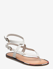 Tommy Hilfiger - FEM ELASTIC FLAT SANDAL - flade sandaler - white - 0