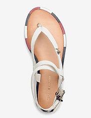 Tommy Hilfiger - FEM ELASTIC FLAT SANDAL - flade sandaler - white - 3