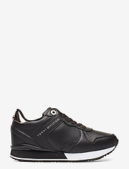 Tommy Hilfiger - DRESSY WEDGE SNEAKER - low top sneakers - black - 1