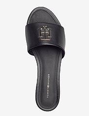 Tommy Hilfiger - TH HARDWARE FLAT MULE - flade sandaler - black - 3
