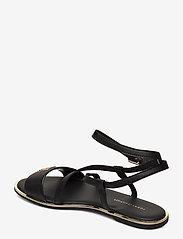 Tommy Hilfiger - TH HARDWARE FLAT SANDAL - flade sandaler - black - 2