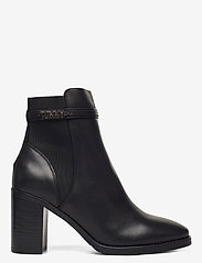 Tommy Hilfiger - BLOCK BRANDING HIGH HEEL BOOT - heeled ankle boots - black - 1