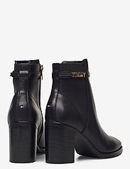 Tommy Hilfiger - BLOCK BRANDING HIGH HEEL BOOT - heeled ankle boots - black - 4