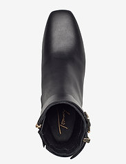 Tommy Hilfiger - LEATHER SQUARE TOE MID HEEL BOOT - flat ankle boots - black - 3
