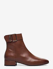Tommy Hilfiger - LEATHER SQUARE TOE MID HEEL BOOT - flat ankle boots - pumpkin paradise - 1