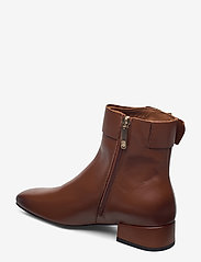 Tommy Hilfiger - LEATHER SQUARE TOE MID HEEL BOOT - flat ankle boots - pumpkin paradise - 2